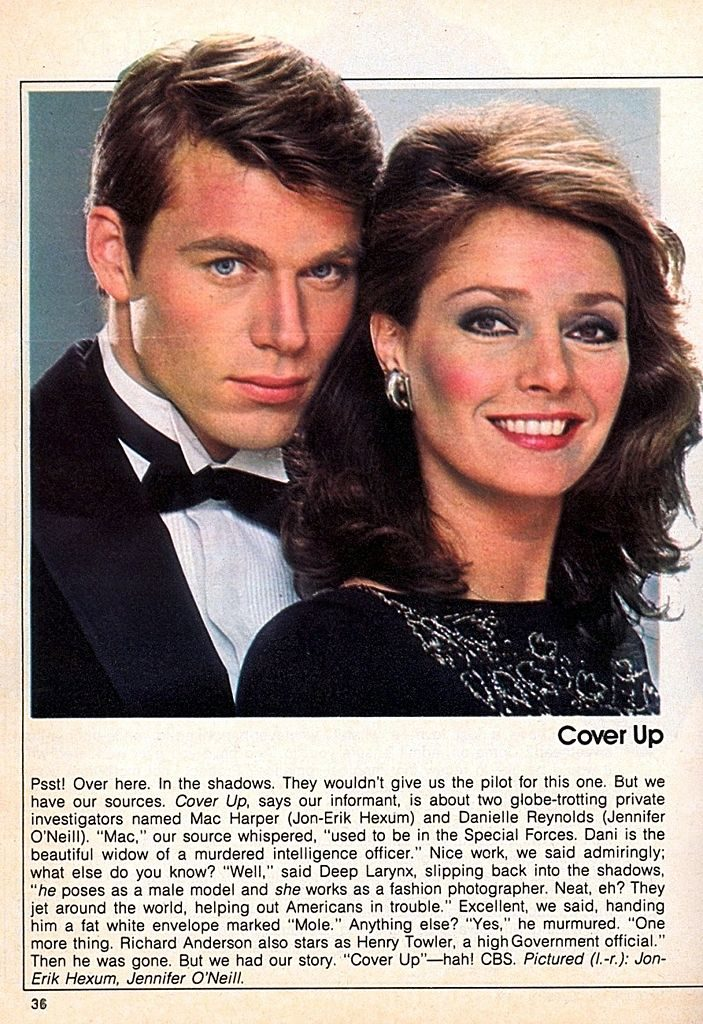 Cover Up (1984) starring Jennifer O'Neill All 20 Episodes + Pilot